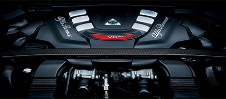 2018 Alfa Romeo Stelvio Quadrifoglio 2.9L Twin-Turbo V6 Engine