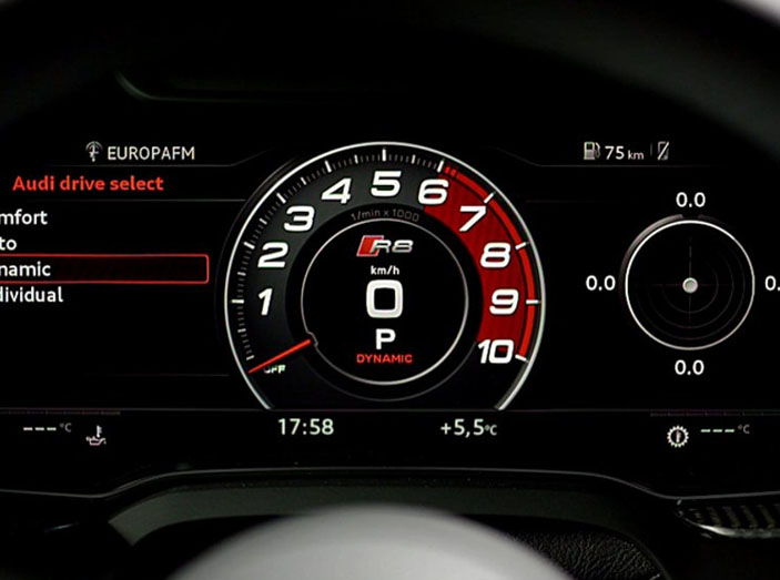 2018 Audi R8 Spyder technology