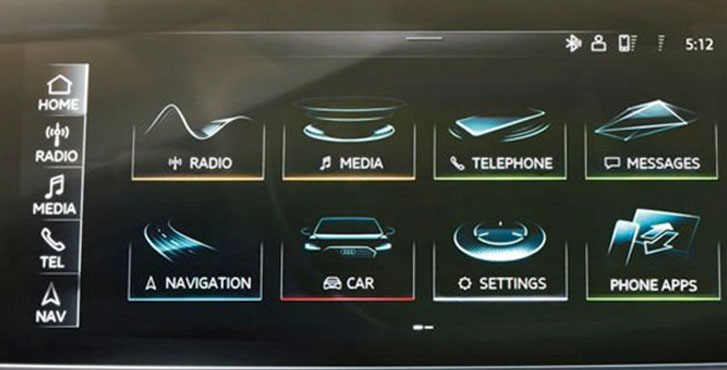 2019 Audi A8 MMI touch response system