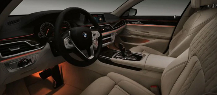 2019 BMW 7 Series 740e xDrive iPerformance Ambient Lighting