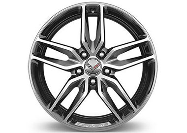 5-Spoke, Silver-Painted Aluminum Wheels