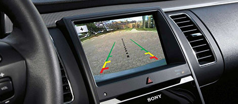 Rear View Camera With Backup Assist Grid