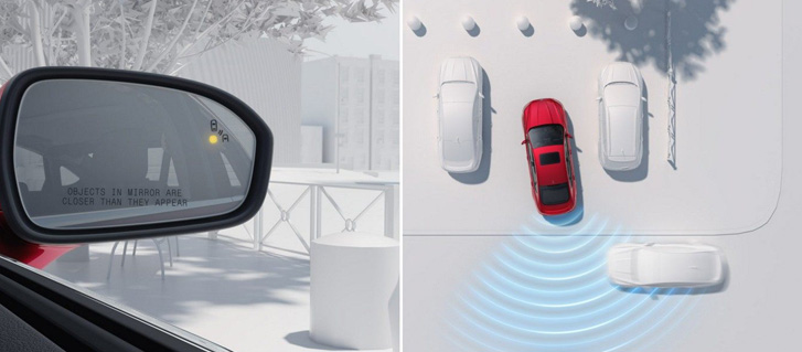 BLIS®(Blind Spot Information System) With Cross Traffic Alert