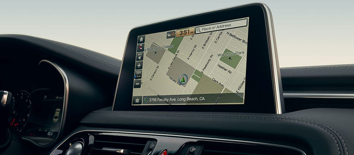 Available Integrated Navigation With Standard 8-Inch Screen