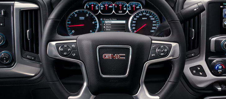2019 GMC Sierra 2500HD Heated, Leather-Wrapped Steering Wheel