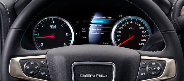 2019 GMC Sierra 3500 Denali HD Heated, Leather-Wrapped Steering Wheel