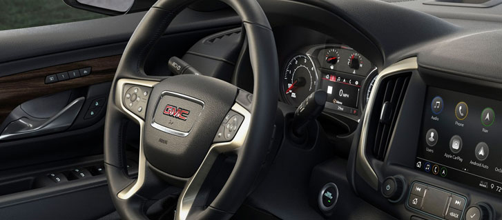 2019 GMC Terrain Denali Heated Leather-Wrapped Steering Wheel