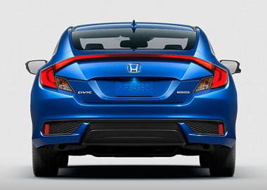 2016 Honda Civic Coupe taillights