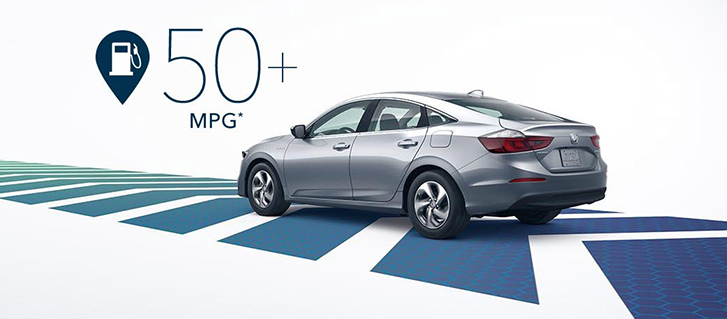 2019 Honda Insight 55-mpg city rating