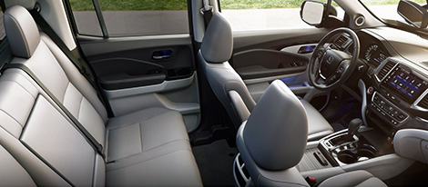 2019 Honda Ridgeline Leather-Trimmed Seats
