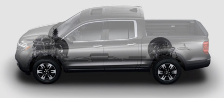 2019 Honda Ridgeline 280 hp, 4-wheel independent suspension