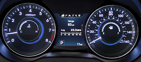 2017 Azera Instrument Gauges
