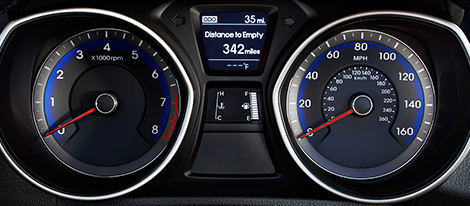 2017 Elantra GT Instrument Gauges
