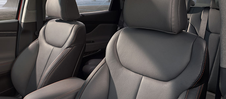 2019 Hyundai Santa Fe leather seating