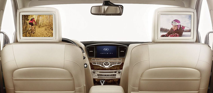 2019 INFINITI QX60 dual 8-inch screens