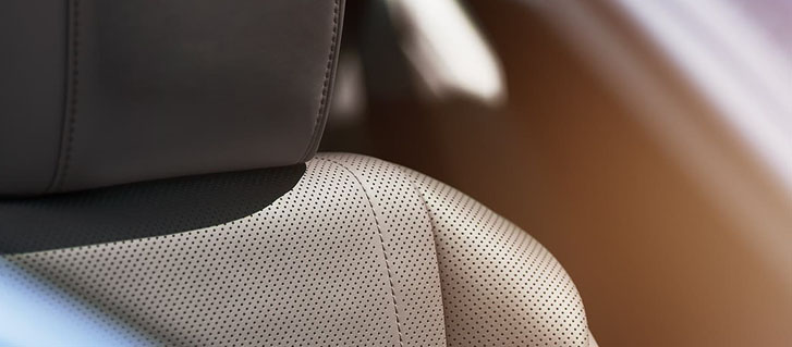Semi‐Aniline Perforated Leather‐Trimmed Interior