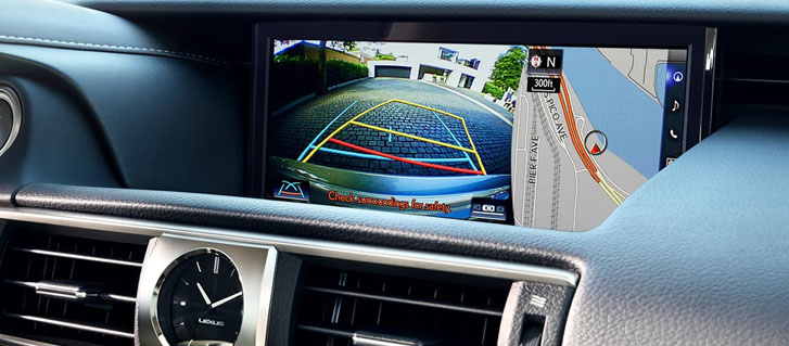 Backup Camera* With Dynamic Gridlines
