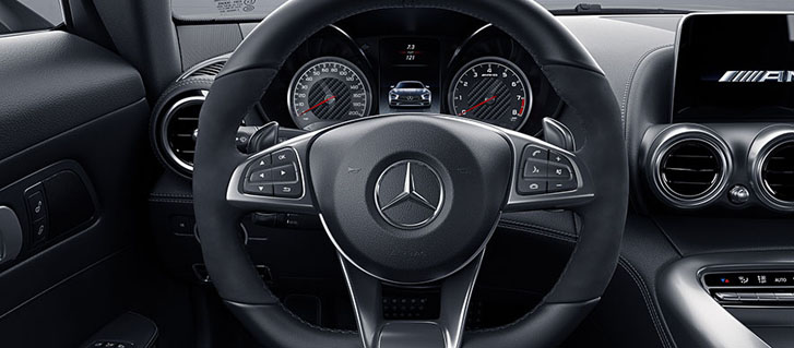 AMG Nappa/DINAMICA Performance Steering Wheel