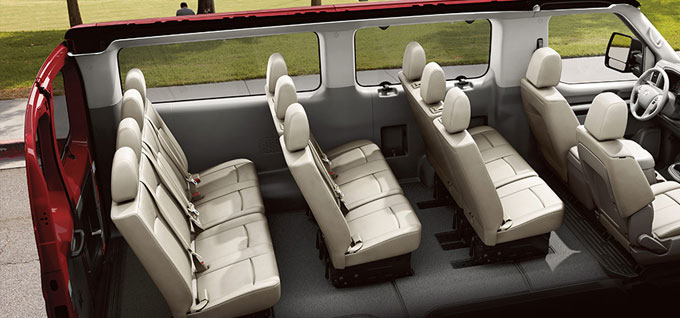 2016 Nissan NV Passenger seating