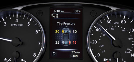 2016 Nissan Rogue Tire Pressure Monitoring System