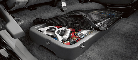 Rear Under-Seat Storage Bin