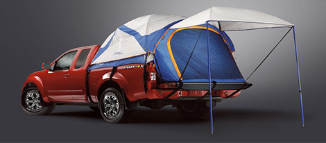 2018 Nissan Frontier dome-shaped tent