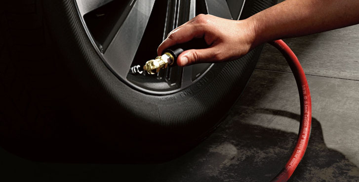 TIRE PRESSURE MONITORING SYSTEM (TPMS) with Easy Fill Tire Alert