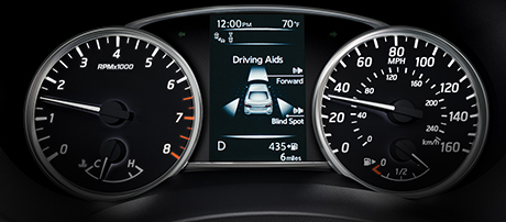 Advanced Drive Assist Display with Driving Aids