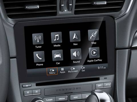 New Porsche Communication Management with online navigation