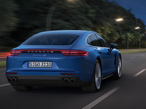 Rear-axle steering now also available in the Panamera