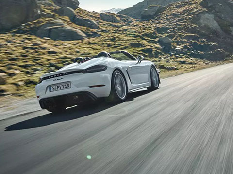 2020 Porsche 718 Spyder performance