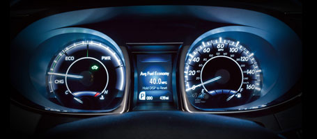 2015 Toyota Avalon Hybrid Display