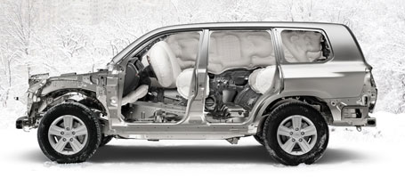 2015 Toyota Land Cruiser airbags