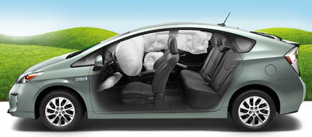 2015 Toyota Prius Plug-in Hybrid airbags