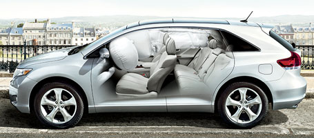 2015 Toyota Venza airbags