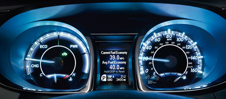 2016 Toyota Avalon Hybrid Multi-Information Display