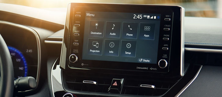 Standard Audio With An Available 8-In. Touch-Screen Display