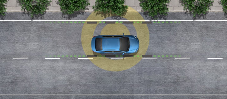 Lane Departure Alert with Steering Assist and Road Edge Detection