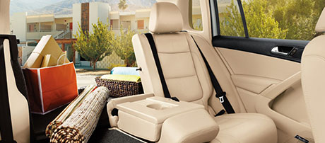 split folding, sliding rear seats