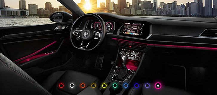 10-Color Interior Ambient Lighting